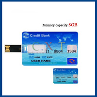 bulk 2014 new credit card shaped usb flash drive