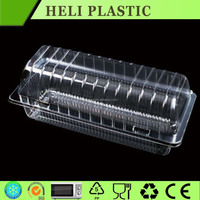 Disposable transparent plastic cake container/Swiss roll box