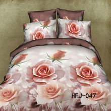 Top quality 100%polyester home applique work bed sheet