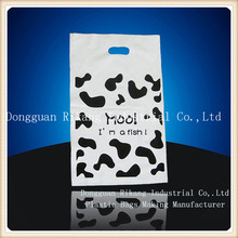 new design die cut bag for shopping/gift plastic bag handle