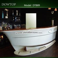 muebles de barra de leds de alta calidad, hecho de superficie sólida corian
