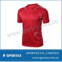 2015 Hot Selling Polyester/Spandex Red Men Compression Wear #HT-1