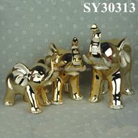 Gold Ceramic Animal Home Decoration