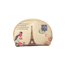 Eiffel Tower travel cosmetic bag leather cosmetic bag women's bag