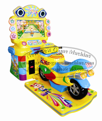 Amusement Center Arcade Coin Operated Simulator Children Kids Motorcycle Moto Lucky Motor Driving Car Racing Video Game Machine
