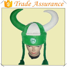 2014 Hot selling Viking horned festival helmet hat