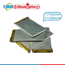 Best Quality Top Sell Li ion Polymer Battery 3.7v 2800mah with Light Weight