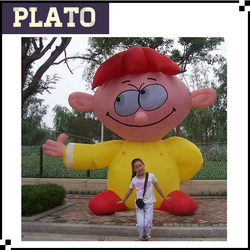 customized giant inflatable welcome boy for advertising or amusement park, customized inflatable model