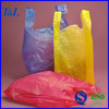 Cheap (high density polyethylene) HDPE plastic t-shirt bag with top quality and service