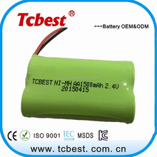OEM for 2.4v ni-mh aa 1500mah rechargeable battery for emergency power supply