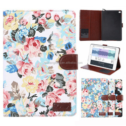 Shenzhen Facory Leather Stand case Flower Printing Case For iPad Mini 4