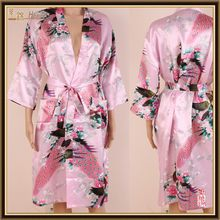 Good quality new products satin kimono gowns fabric