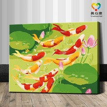 modern fish oil painting by numbers set
