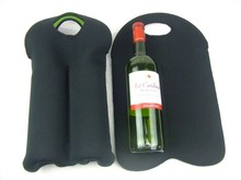 Promotional Wine Sleeve With Logo Printing, Cup Sleeves Wedding Decoration 2 Pack Collapsible Promotional Wine Sleeve