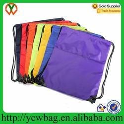 Customized polyester mesh canvas nylon cotton drawstring bag