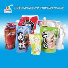 2015 New Style Plastic Standing Pouch With Spout