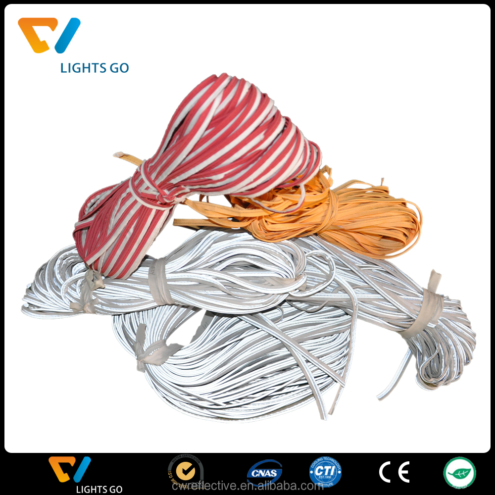 Colorful high visibility reflective webbing with best quality for clothes