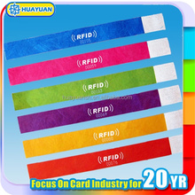 13.56 MHz plastic disposable RFID wristbands for medical,health center,hospital
