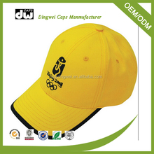 WHOLESALE Sports Style Caps Custom-made Yellow Body Baseball Hat and Cap