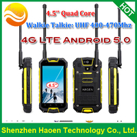 Factory 4.5'' Rugged Android Phones with 4G LTE TDD FDD IP68 Waterproof Shockproof Android 5.0 Mobile Phones Walkie Talkie PTT