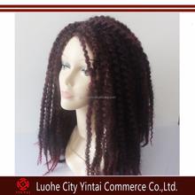 Kinky curly Marley kanekalon braid synthetic hair wigs