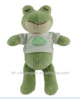 organic cotton frog & organic toy stuffed toys
