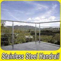 Customed Standard Design Stainless Steel Metal Terrace Railings