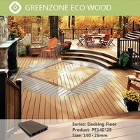 Natural and beautiful garden outdoor floor new tech hollow composite decking board