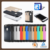 2016 Original hybrid armor shockProof protective hard mobile phone cover for iphone 6 4.7 hybird armor case factory price