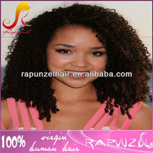Best selling tiny curl brazilian hair full lace human hair wig