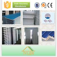 Color Steel Polyurethane Sandwich panel/polyurethane foam board insulation