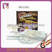 Fósiles de dinosaurio kit de excavación/fósiles de excavación de juguete/fósiles de cavar juguete