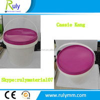 High quality round plastic new PP food grade bucket for popcorn packing
