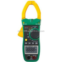 LCD Auto Range Manual AC/DC Clamp Meter Large Jaw Volt Amp Meter Electrical Tester MS2138
