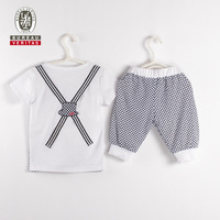 Boys clothing 2012 like overall outfit casual kids clothing set