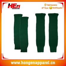 Hongen apparel hot sale novel design green plain ice hockey socks wholesale
