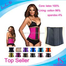 2015 Perfect colombian Waist Cincher US flag print japanese hot girl sexy corset latex waist trainer cincher