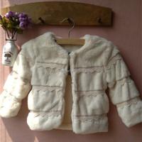 girls faux fur coats winter fur coats prince style coat
