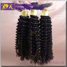 2015 fashion style brazilian kinky curly hair virgin curly hair and supreme remy hair weave