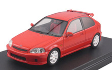 Custom made Honda Civic die cast metal and plastic inertia pull back scale model car toy 1:43