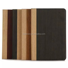 For ipad mini 4 wood pattern flip leather case back cover case with stand, China supplier