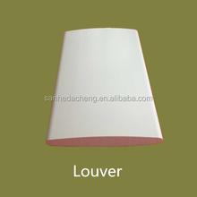 "Amercia market hot sale pvc shutter 2.5""/ 3.5""/ 4.5"" fixed louver"