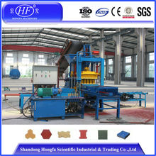 Germany design new technology automatic hydraulic concrete coloured paver/interlocking brick making machine price QFT3-20