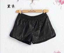 2012 fashion ladies sexy pu leather shorts&imitation leather short pants