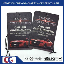 promotional new car scented hanging paper air freshener/paper perfume for car
