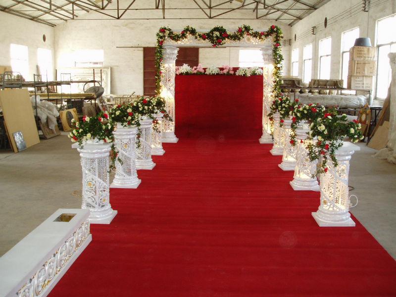 Latest White Wedding Decoration Wedding Pillar Column Walkway Stand For Wedding Hotel Party