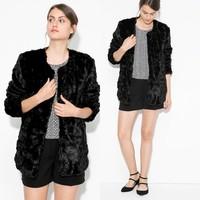 Economy clothing customized italian fur coats fur mink coats for women
