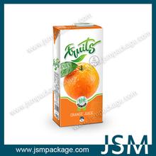 Custom printed juice carton paper packaging box factory price