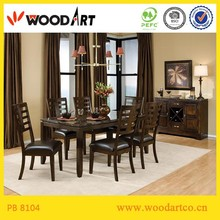 Modern design upholstered royal dining room furniture sets