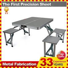 Foldable Portable Picnic Table w/ Four Seats